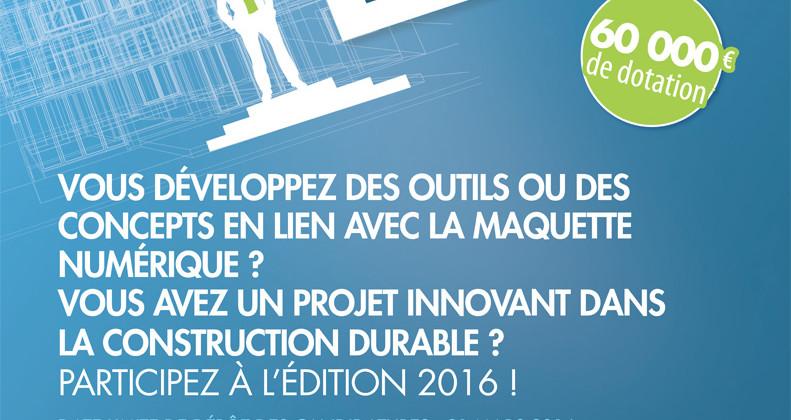 Concours National de la Création d'Entreprise Construction Durable 2016