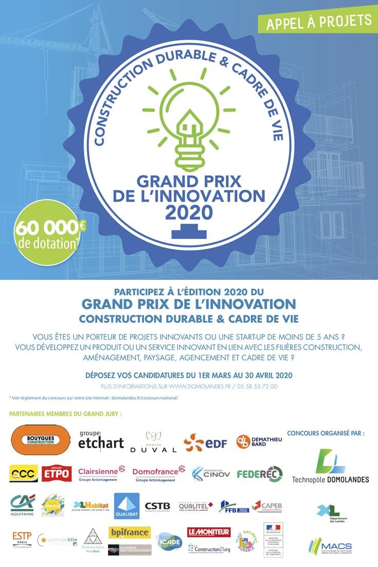 Grand Prix de l'Innovation Construction Durable et Cadre de Vie